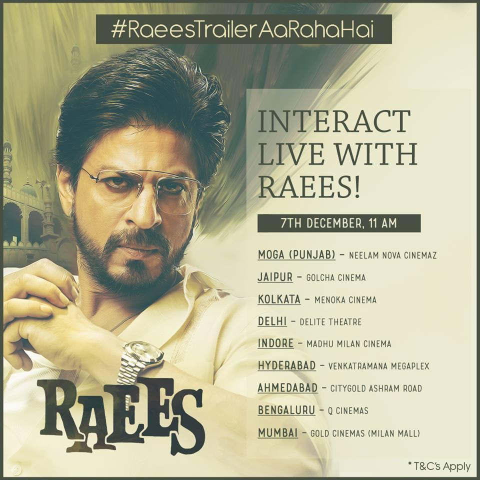Itrendspot Participate in #RaeesTrailerAaRahaHai