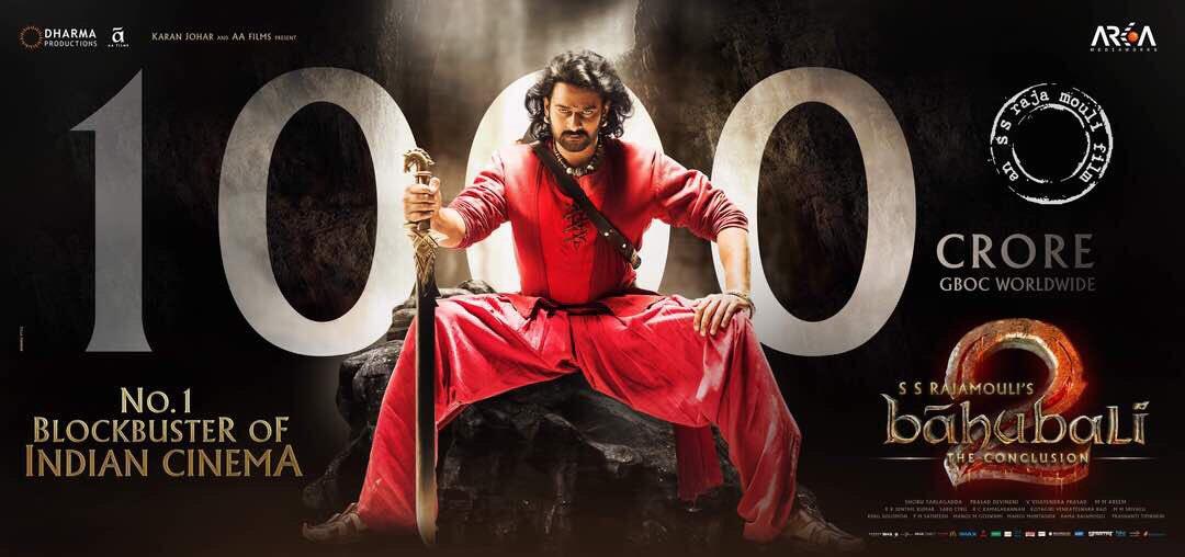 1000 crores crooses Bahubali 2 the conclusion Starring Prabhas, Anushka Shetty, Rana