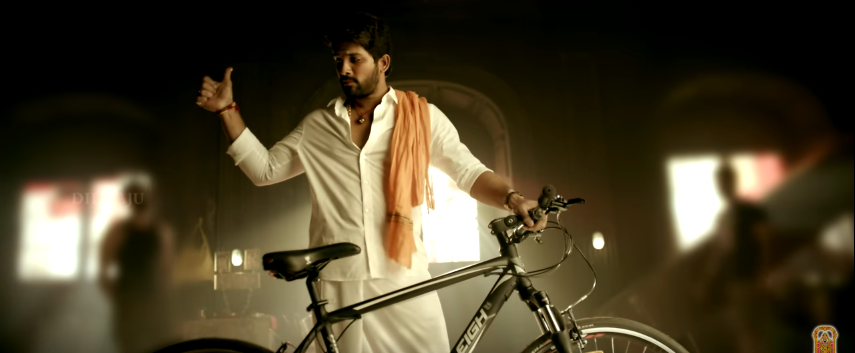 Allu Arjun in Duvvada Jagannadham - DJ New look as Traditional Brahmin with bicycle.