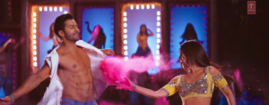 Varun dhawan and Alia bhatt plays with colors in Badrinath ki Dulhania title track