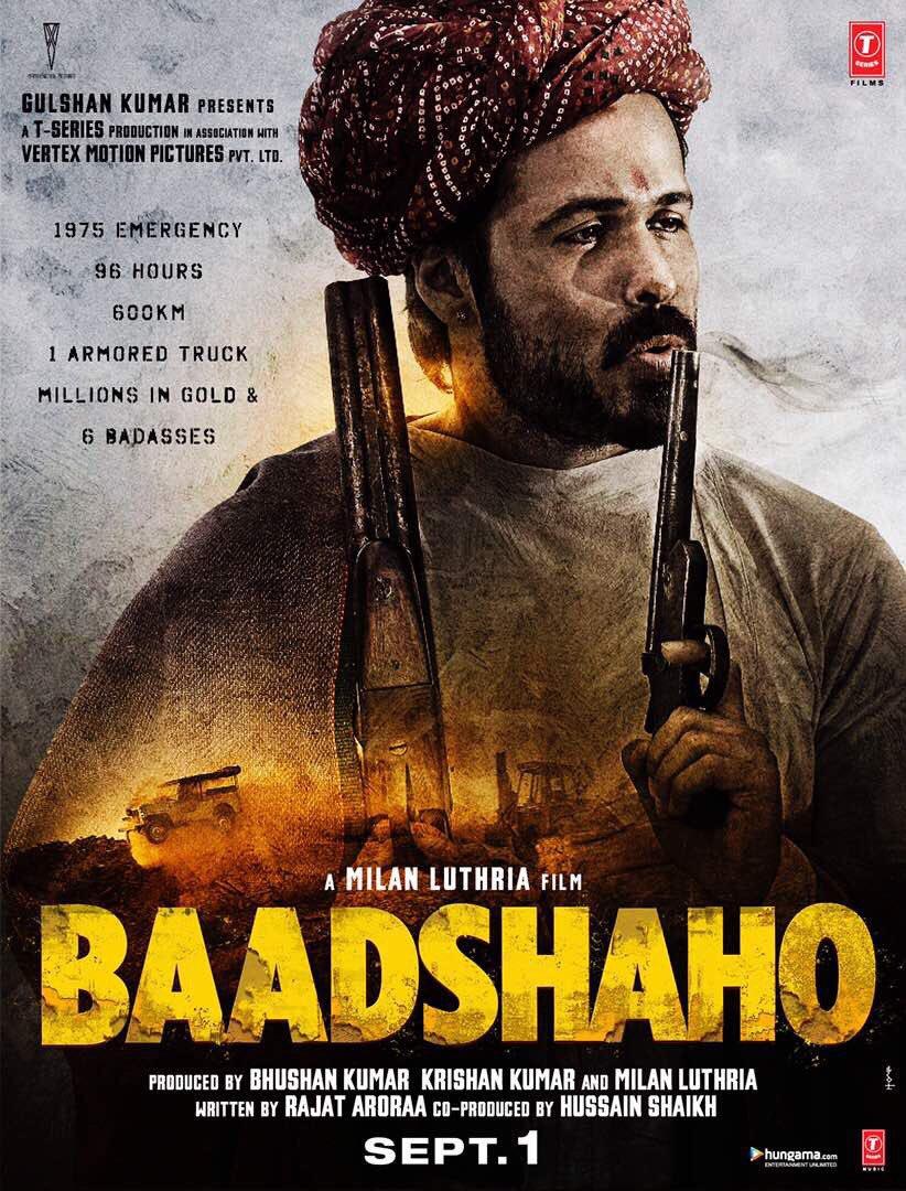 Emraan Hashmi in Baadshaho movie poster