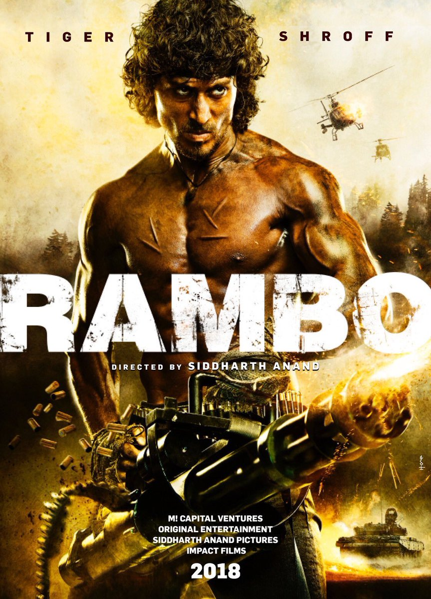 Upcoming movie of Tiger Shroof Rambo movie first look