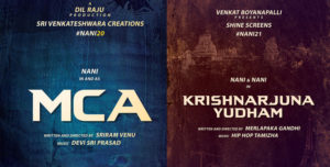 Nani upcoming movie mca and KRISHNARJUNAYUDHAM
