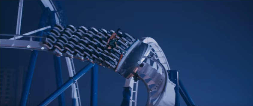 Spyder Movie Action scene on a Rollercoaster