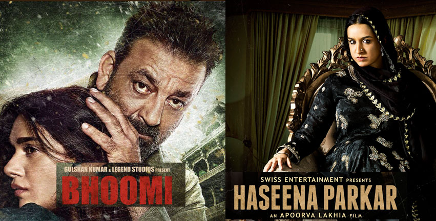 haseena parkar and bhoomi movie box office collections