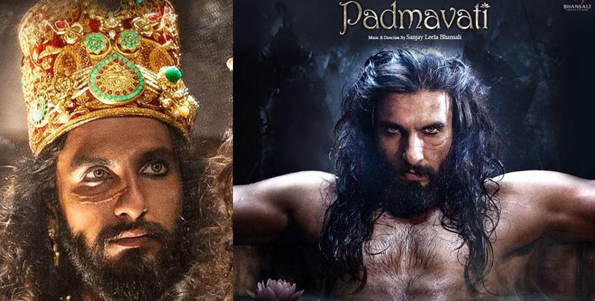 Sultan Alauddin Khilji look Ranveer Singh Padmavati Movie Scary Look With Scars