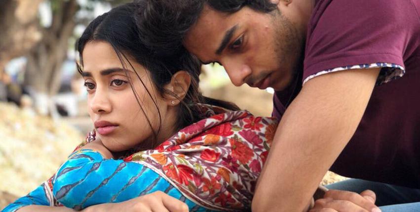 Ishaan and  Jhaanvi in  dhadak movie pics