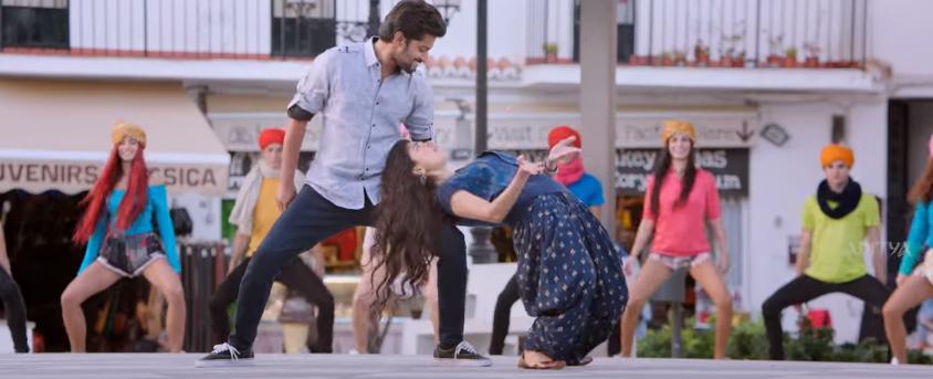 Sai Palalvi leanig back wards dance
