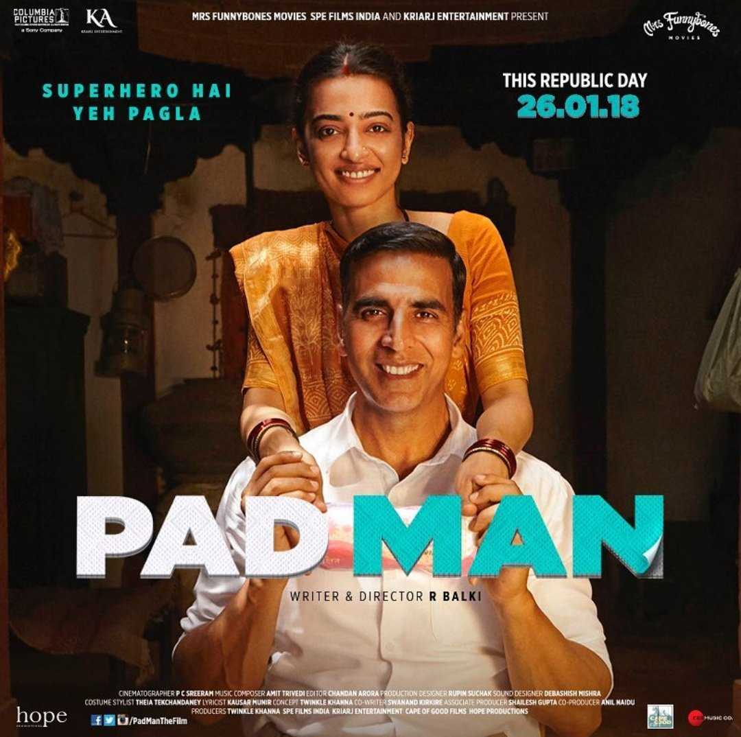 Padman movie poster - Soman Kapoor upcoming movie