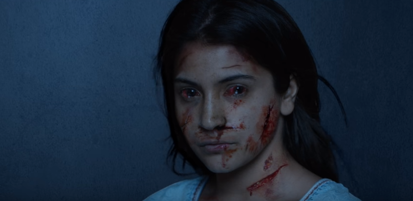 Scary anushka look in Pari movie teaesr holi with pari