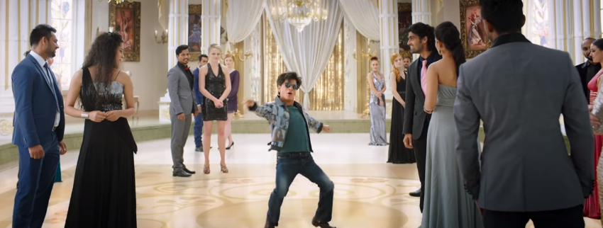 Srk dwarf movie zero look perfect dance.