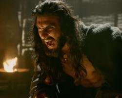 Ranveer singh as Alauddin khilji menace