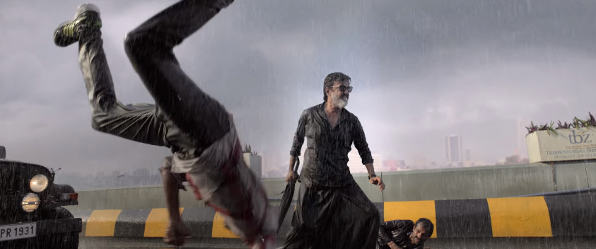 Rajinikanth in kaala movie fight scene