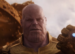 Thanos in avnegers infinity war