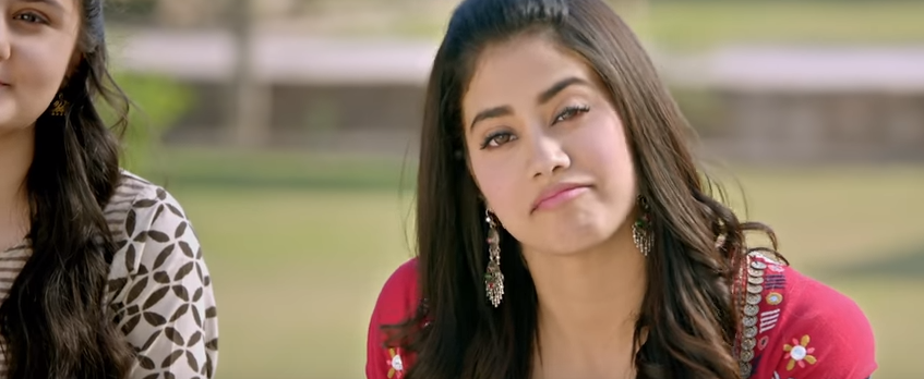 Janhvi in dhadak movie trailer expressions