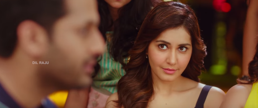 Raashi Khanna in Srinivasa Kalyanam cute looks at nithiin