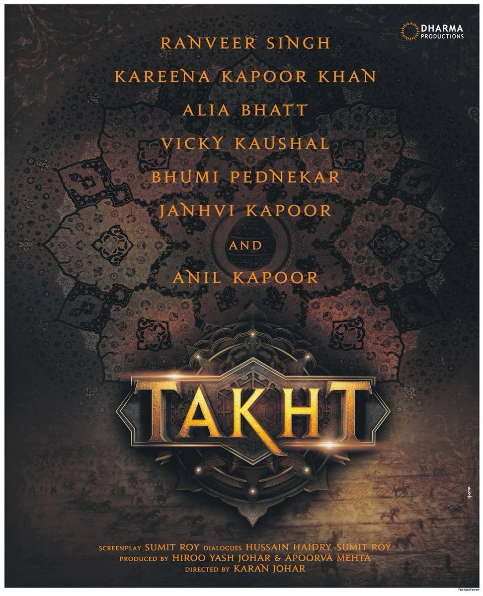 Takht Movie characters and star cast