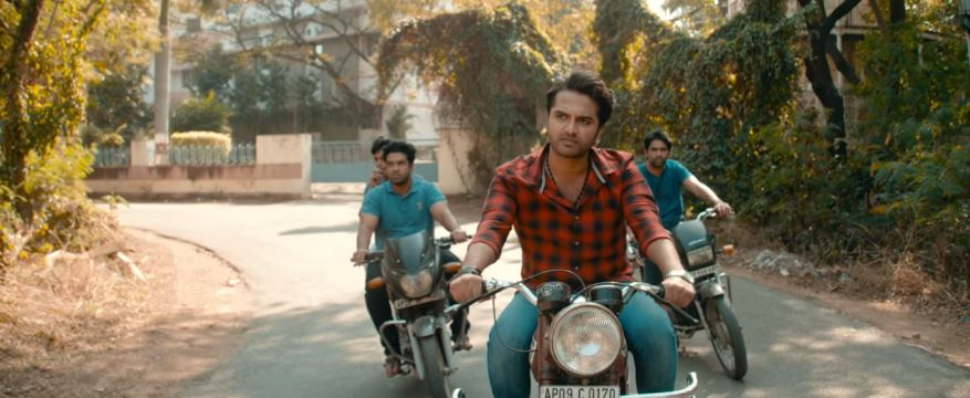 Vishwas das riding bike in falaknuma das trailer